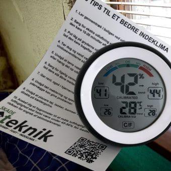 Hygrometer til at måle luftfugtighed