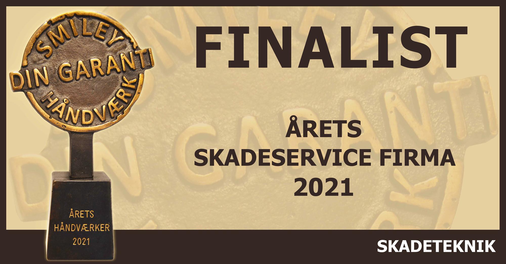 Finalist i anmeld håndværkers årets håndværker 2021 til årets skadeservicefirma